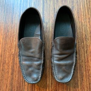 Tod's men's brown leather driving shoes